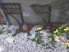 "STEAMPUNK-""New Peabody""-Cast Iron School Desk  Left  & Right Antique Rustic"
