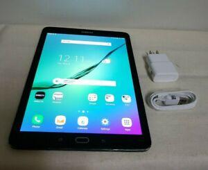 "9.7"" SAMSUNG GALAXY SM-T818A TAB S2 32GB BLACK (AT&T) WIFI TABLET- GOOD COND***"