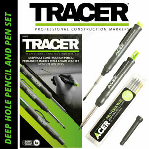 Tracer AMK3 Professional Deep Hole Pencil & Marker Pen Set In Site Holsters NEW