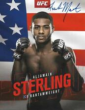 Aljamain Sterling UFC MMA signed 8,5x11 photo proof w/COA