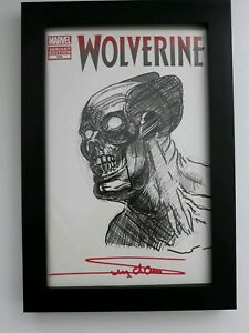Arthur Suydam Sketch of Wolverine on Wolverine #300 Blank Variant Cover. Framed!