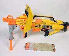 Nerf N-Strike Stampede ECS Blaster Automatic Blaster 2 Ammo Clips Shield Tri Pod