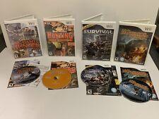 Lot of 4 Wii games Hunting Extravaganza, Survivor, BIG GAME HUNTER 2010, More