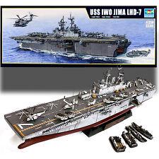 TRUMPETER 1/350 USS IWO JIMA LHD-7 AMPHIBIOUS ASSAULT SHIP MODEL KIT PLUS EXTRA
