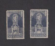 Scott 628 - John Ericsson Memorial. 2 x Singles. Used.   #02 628u2