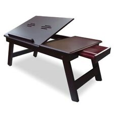 Wooden Laptop Table with Drawer Home Decorative Foldable Stand Sale