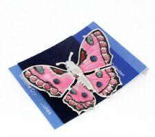 Large Pink Butterfly Brooch Pin