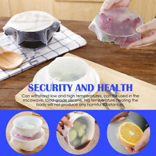 Reusable stretch Lid Silicone Wraps Seal Vacuum Cover Keeping Food Fresh Wrap