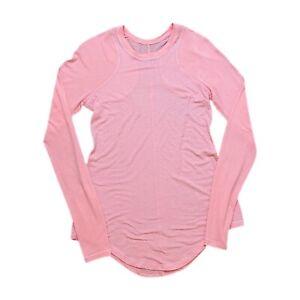 Lululemon Pink Long Sleeve Waffle Shirt Women's M