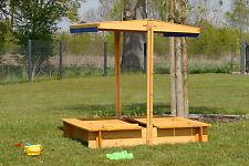 Recinto sabbiera con tetto apribile gioco bambino veranda legno parasole