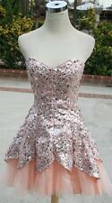 NWT MASQUERADE $120 PEACH Cocktail Party Prom Dress 11