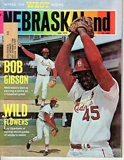 1970 (June) NEBRASKAland Magazine, Baseball, Bob Gibson, St. Louis Cardinals
