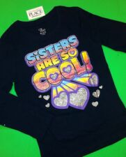 "*NEW! ""Sisters Are So Cool!"" Girls Sister Shirt 5-6 S 7-8 M 10-12 Large Gift!"