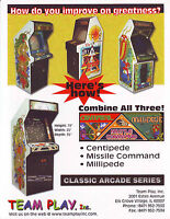Team Play Classic Arcade Series Flyer CENTIPEDE MILLIPEDE MISSILE COMMAND # 1
