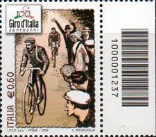 2009 francobollo Giro d'Italia CON CODICE A BARRE 1237