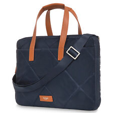 Knomo Talbot Slim Navy Blue 14-Inch Briefcase Brand New