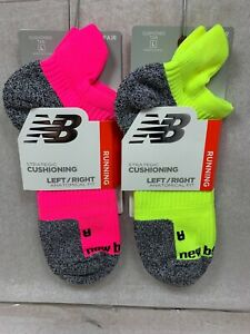 New Balance CUSHIONING NO SHOW TAB Running Socks  Mens/ Women Large