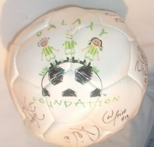 SCARCE GALAXY FOUNDATION SOCCER BALL SIGNED BY TEAM MEMBERS IN GOOD CONDITION