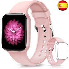 BANLVS Smartwatch, Reloj Inteligente Impermeable IP68 Pantalla Táctil de (Rosa)