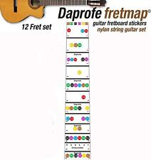 DAPROFE Fretboard Note Map Right Handed Acoustic Classical Guitar Guide Stickers