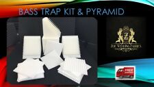Acoustic Foam - Bass Trap Kit & Pyramid Foam White Panel Studios Corner Wall