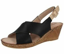 Wedge 100% Leather Wide (E) Heels for Women