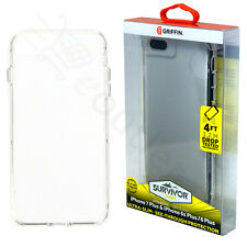 Griffin Sobreviviente TRANSPARENTE CARCASA FUNDA PARA IPHONE 8/7 Plus /6s Plus/