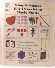 Simple Games for Practicing Basic Skills by Kath Morgan (1989 Paperback) Pre-K-1
