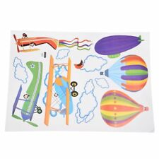 5x Removable Cartoon Airplane and Hot Air Balloons Wall Sticker Decals N4h2