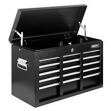 New Lockable Heavy Duty 9 Multi-Size Drawers Garage TOOL BOX Toolbox Chest Black