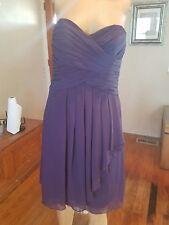 David's Bridal size 4 lapis purple style 14847 strapless knee length