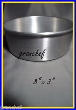 "Round Layer Cake Pan - 8"" x 3""  Heavy Duty Alum.  Commercial Grade ~ New"