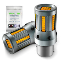 2 x ampoule 66 LED ORANGE BA15S 1156 P21W VOITURE Feux de Jour SMD clignotant