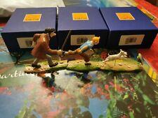 Lot de 3 Pixi Haddock Tintin Milou Poursuite boite bleue moulinsart Hergé
