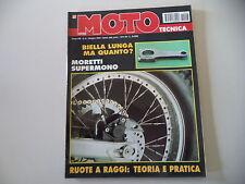 MOTO TECNICA 6/1994 MORETTI YAMAHA SUPERMONO/BSA 650/MOTORE VILLA 125 KART