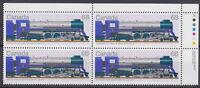CANADA #1121 68¢ Locomotives 1925-1945 UR Inscription Block MNH