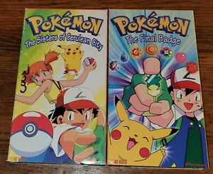 Pokemon VHS Lot Of 2 Vintage 1998 Pre-Owned Collector Pikachu 0200