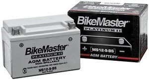 BikeMaster Motorcycle AGM Platinum II Battery MS51913