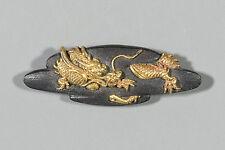 SHAKUDO MENUKI DRAGON by Edo Kinko Japanese Antique Sword Katana Koshirae Tosogu