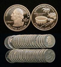 Roll of 40 2009-S Proof American Samoa 90% Silver Quarters