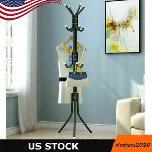 Heavy Duty Coat Rack Hat Stand Tree Clothes Hanger Holder Organizer 12 Hooks