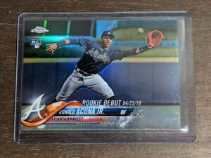 2018 Topps Chrome Update Ronald Acuna Jr Refractor Rookie Debut RC /250 Braves