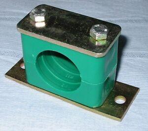 "Tube Clamp 21.3mm 1/2""""n.b. Hydraulic Fluid Air Pneumatic Pk2"