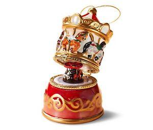 Mr. Christmas Spieldose Spieluhr Karussell Weihnachtsdeko Christbaumschmuck
