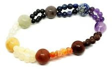 7 Chakra Bead Stone Double Bead Bracelet High Quality Reiki Charged Stones