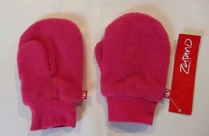 ZUTANO TODDLER  FUCHSIA GIRLS  COZIE FLEECE SNOW MITTENS  (pink) ONE SIZE