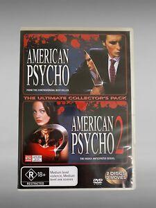 AMERICAN PSYCHO 1 & 2 (2000-2002) DVD CULT THRILLER HORROR RARE OOP R4