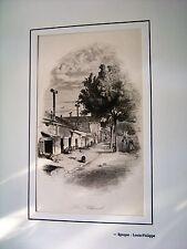 44-50-3 Gravure XIXe jardin zoologique à Paris le chenil