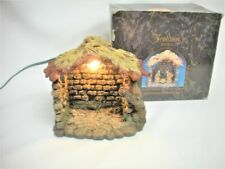 1996 Fontanini Lighted Stable 50161 Heirloom Nativity Christmas Box Works Roman