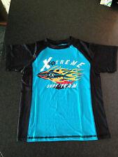 BNWOT Boys Sz 6/8 Black/Aqua UPF 50+ Short Sleeve Swimming Rash Vest